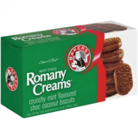 Bakers Mint Choc Romany Creams 200g