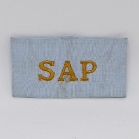 SAP Light Blue Slip-On Shoulder Title 1980's