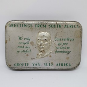 WWII South African Gift Tin 1940 (2)
