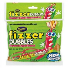 Beacon Fizzer Dubbles Strawberry & Apple 11.6g
